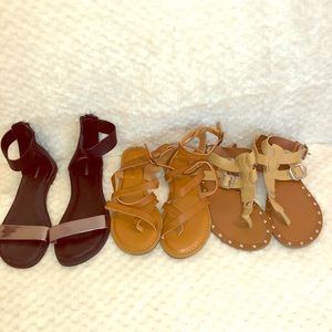 Rampage, express ( lot of 3 ) flat sandals